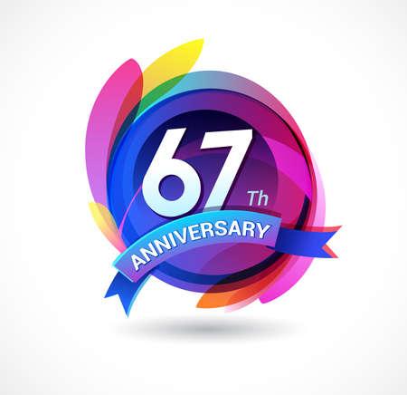 67 years anniversary logo