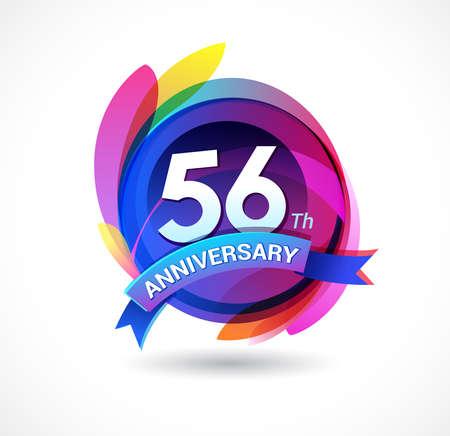 56 years anniversary logo