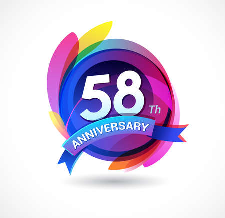 58 years anniversary logo