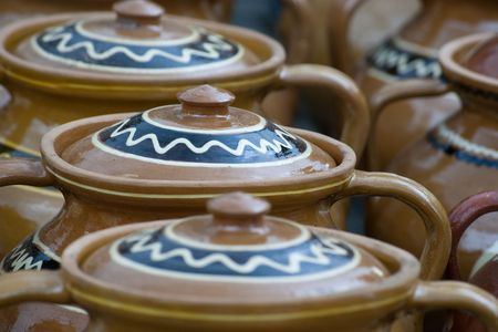 tradional pottery from Romania photo