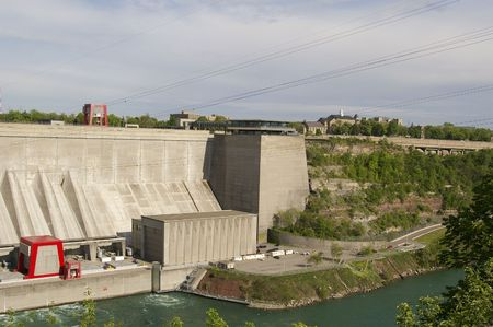 Water Hydro Dam at Niagara Falls concrete building