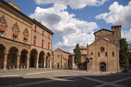 santo: Santo Stefano square and church in italian town Bologna