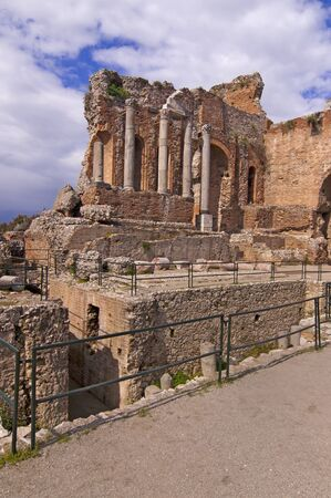 Taormina amphitheater in Sicily Italy in spring photo