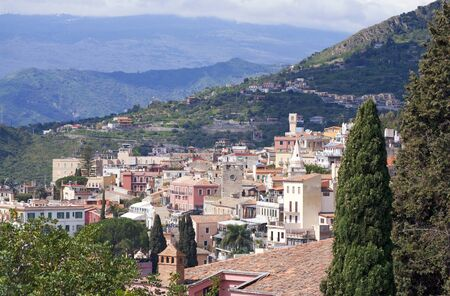 Town of Taormina in Sicily Italy in spring Stock Photo - 9846721