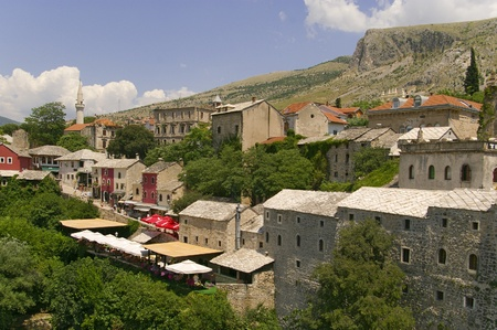 Mostar, Bosnia and Herzegovina, old city center photo
