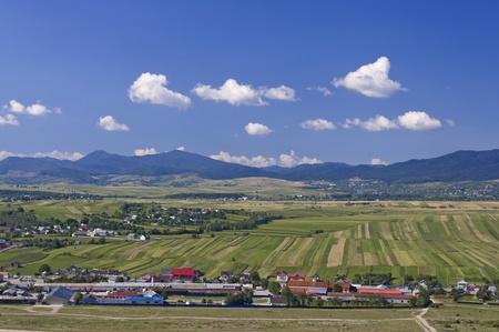 lanscape: Rural lanscape in Bukovina Romania