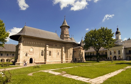 Christian orthodox monastery church Neamt in Romania built in 15th century during Stephen the Great reign photo