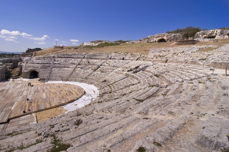 The Ancient Greek Theater in Siracusa, Sicily - Italy