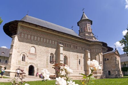 Christian orthodox monastery church Neamt in Romania built in 15th century during Stephen the Great reign