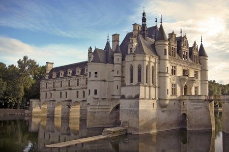 Chenonceau castle Loire valley Cher river France