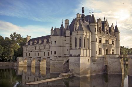 monument valley: Chenonceau castle Loire valley Cher river France