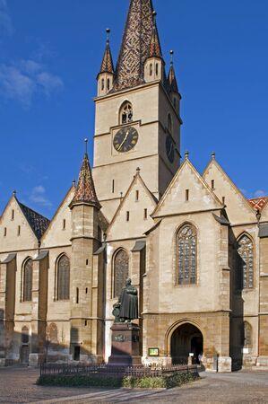 lutheran: Sibiu, Transylvania, Romania, lutheran gothic cathedral, XVth century