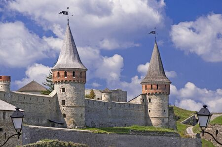 Beautiful medieval castle at Kamenets-Podolsky in Ukraine built in 14th century