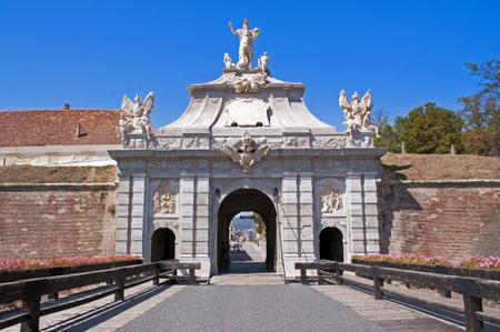 Gate at Alba Iulia Vauban style citadel in Transylvania Romania Stock Photo - 15816529