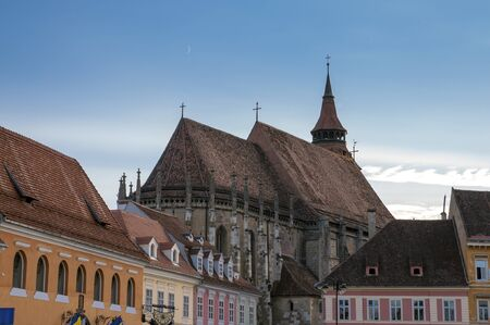 Black church in Brasov, important gothic landmark in Eastern Europe  14th century  Stock Photo