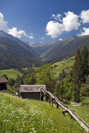 Lesachtal valley in Carinthia Austria Stock Photo