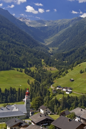 Village in Lesachtal valley in Carinthia Austria