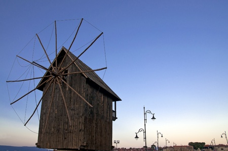 Windmill in Nessebar, Bulgaria  photo