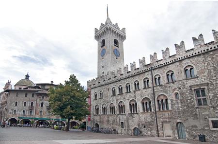 Cathedral in center square - Piazza Duomo - of Trento, Alto Adige, Italy