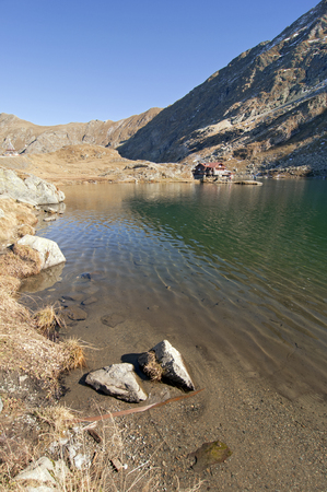 fagaras: Balea lac lake in Carpathians, Fagaras Mountains