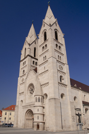 romanesque: Late romanesque cathedral in Wiener Neustadt Austria Stock Photo