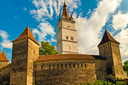 brasov: Fortified church in Transylvania, Romania, Harman, Brasov area