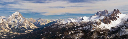 Dolomites Mountain in winter, near Cortina D