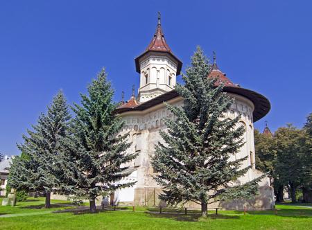 cel: Christian monastero ortodosso Ioan Sfntul cel Nou in Suceava, Bucovina, in Romania, patrimonio mondiale dell'UNESCO