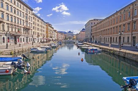 grande: Canal Grande in Trieste - city in Italy Stock Photo