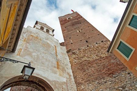 veneto: Tower and gate Bassano del Grappa - Town in northern Italy (Veneto) Editorial