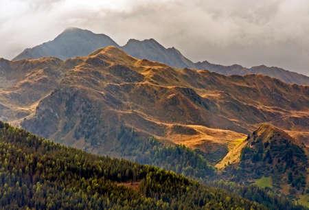 alto adige: Mountain landscape in Alps - Italy, Alto Adige, Ridnaun Valley