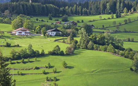 alto adige: Rural houses in Alps village - Italy, Alto Adige, Ridnaun Valley