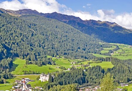 alto adige: Typical landscape, Alps valley, in South Tirol (Alto Adige) Stock Photo