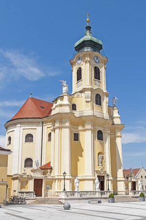 baroque: Baroque church at Laxenburg, Austria