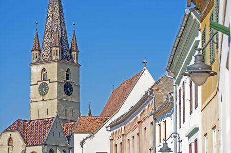 lutheran: Sibiu, Transylvania, Romania, gothic lutheran cathedral from XIVth century