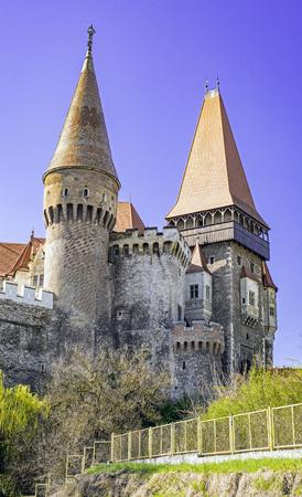 xv century: Corvin or Hunyadi or Hunedoara Castle, Transylvania, Romania, Renaissance-Gothic style from XV century