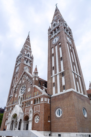 Szeged cathedral towers in Hungary Stock Photo