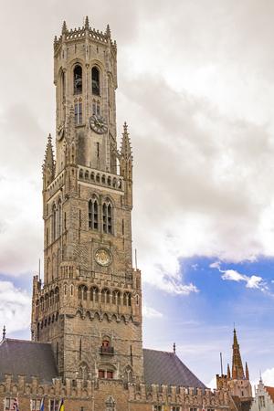 Belfry in Brugge, Belgium built in 13th century
