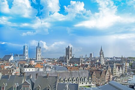 Cityscape in old town Gent of Belgium