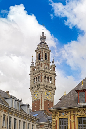 Belfry in Lille, city in French Flanders, France (Nord Department)