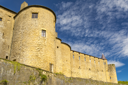 Sedan castle in France, grand fortress of medieval European stock Editorial