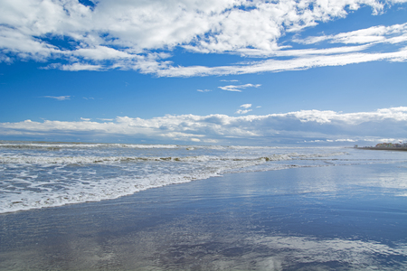 Mediterranean sea at Narbonne plage in Occitane France Stock Photo
