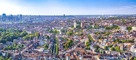 Burssels cityscape, capital of Belgium on sunny summer day