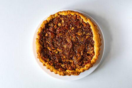 Walnut and fig tart dessert pie