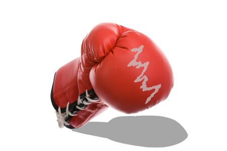 Boxing Gloves as a Symbol of Financial Crisis Isolated