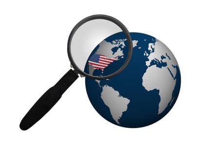 Earth World Globe Sphere Symbol Isolated on White Stock Photo - 8397843