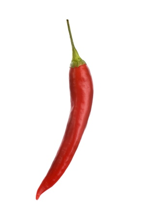 Hot Red Mexican Chili Pepper Isolated on White