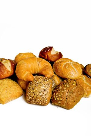 Breakfast Food Collection Set of Rolls Background