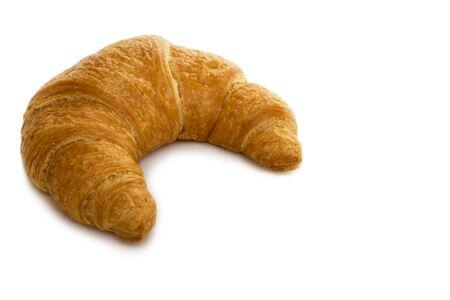 Fresh French Croissant Isolated on White Background