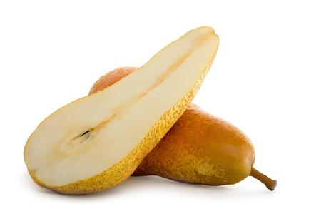 Fresh Pear Fruit Isolated on White Background